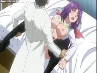 Anime babe in black stockings
