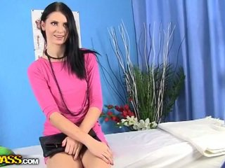 brunette, watch oil check, online doggy style free