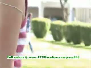 Sadie Angelic Blonde Babe Flashing Tits And Having Fun
