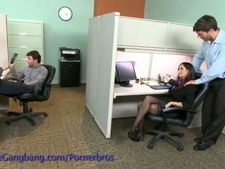 Coworkers force a double penetration on her