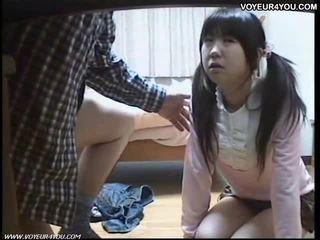 Japonesa aluna oral sexo tutorial
