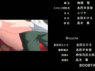 Big Boobed Hentai Girl Cunt Fucked Hard On A Bicycle