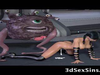 Ogres 和 aliens 他媽的 3d elf 女孩!