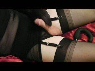 kwaliteit crossdresser, cumshot, mooi masturbatie