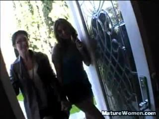 Mother And Daughter Lake Russell And Annette Allen Arrive At A Man's House For A Quick Interview Till They Have Down To Business. Lake Stands And Does The Strip Tease, Revealing Off Her Body Shape Unt