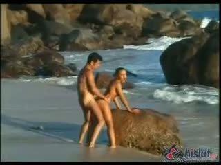 doggystyle seks, cum film, heetste strand porno