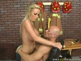 Breasty Babe Nikki Benz Getting Sprayed With Cock Sauce On Her Healthy Boobies