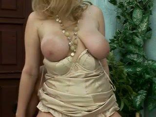 Beautiful saggy blonde milf