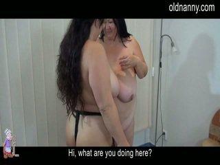 Elder Aged Striptease And Lesbie Porn