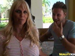 Blonde busty milf Karen Fisher get a dick