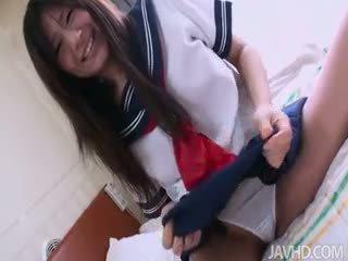 Yukari's White Panties Get Soaking Wet After Her Pussy Is