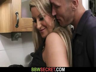 Engaged Guy Bangs BBW At The Kitchen