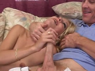Blonde and her two dicks