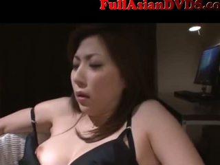 japonés, boca, masturbándose