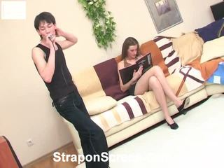 strap-on, meer strap on bitches tube, vol strap on cun video-