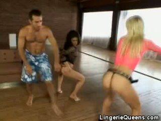 Aerobics in lingeries