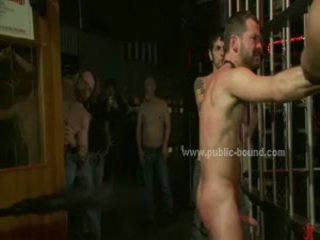 Gay Adult Hunk With Beard Coercive To Suck Then Fucked In Sadomaso Extreme Bondage Sex