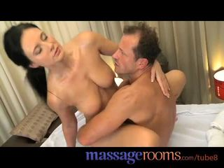 Massage Rooms Horny young girls get fucked deep and covered in hot cum