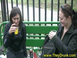 vers dronken gepost, redhead klem, vol lesbisch
