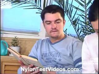 Laura e adam malvagio collant piedi azione
