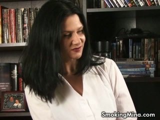 brunette, roken porno, hq kindje film