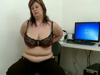 She's got great big saggy boobs