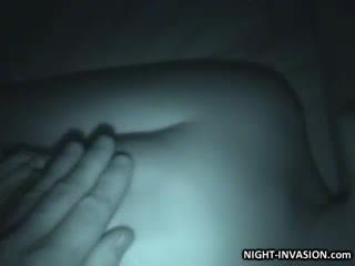 Doll Stroking shaft in Sleep