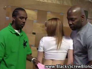 Redhead white slut gets black cocks