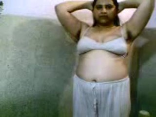 Desi girl undressing and bathing nude
