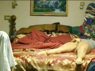 Hidden cam. My slut mum masturbates untill she cums