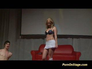 nieuw blondjes, u striptease, zien dans seks
