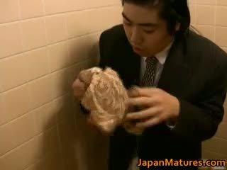 japansk, gruppsex, stora bröst, mogen