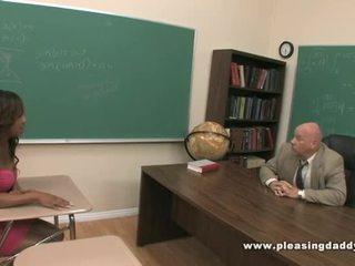 Young Black Slut Fucks Horny Teacher