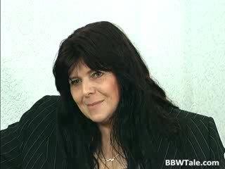 Black hair mature BBW slut gets her