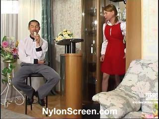 Alice And Nathan Mindblowing Pantyhose Vid Scene