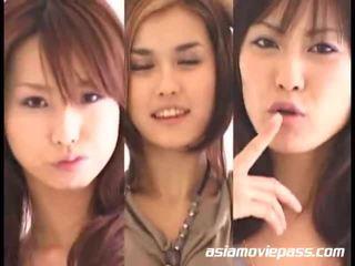 Azjatyckie dziewczyny swallowing semen