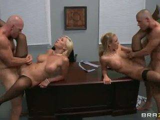 hq girl on girl watch, office, facial all