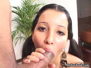 brunette, facialcumshot, swallow