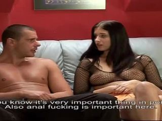 Brunette Fucks Her Ass With A Dildo While Her Man Nails Her Pussy