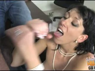 ALia Janine Let A Hot Goo Release In Her Mouth