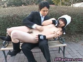 hardcore sex, venkovní sex, sex na veřejnosti, velká prsa