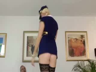 babe brit stewardess solo masturbation