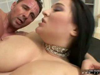 Breasty CasSandra Calogera Receives Banged Hard And Cumsprayed On Huge Juggs