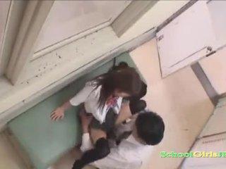 Jap Schoolgirl Riding On her Teacher Cock