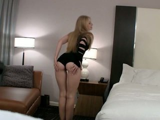 Sweet college girl spreading on camera