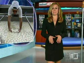 Naked News Anchor Reverse stripping