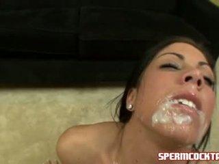 Sperma paramour eva ellington gets a loadful apie jock batter į jos saldus burna