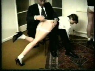 caning scène, spanking film, mooi otk porno