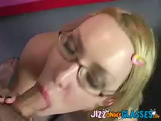 Indie Porn Girl Audrey Elson Gets A Glasses Facial