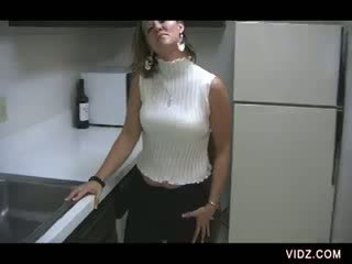 chubby Babe gets hot in the kitchen